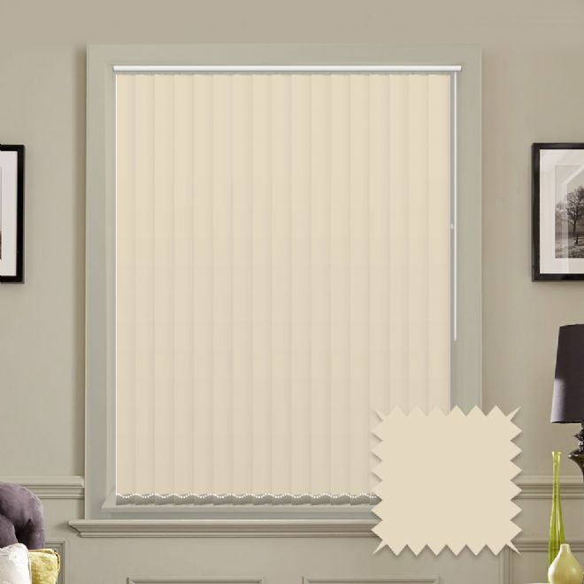 "Made to Measure  Blackout 5"" Unishade Cream Vertical Blind"